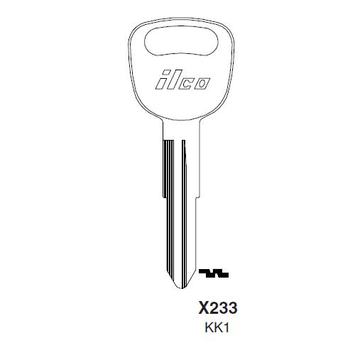 Ilco X233 (KK1) Key Blank : Kia