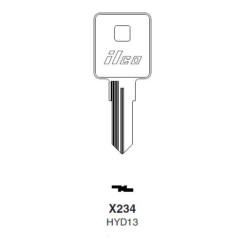 Ilco X234 (HYD13) Key Blank : Harley Davidson, Kymco, Moto Guzzi