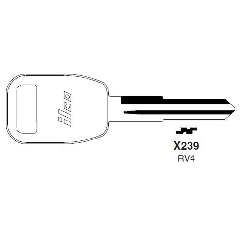 Ilco X239, RV4-P (RV4) Key Blank : Rover