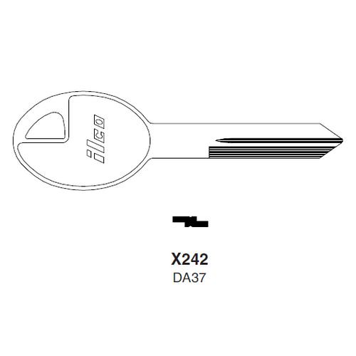 Ilco X242, DA37-P (DA37) Key Blank : Nissan