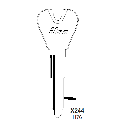 Ilco X244, H76-P (H76) Key Blank : Ford
