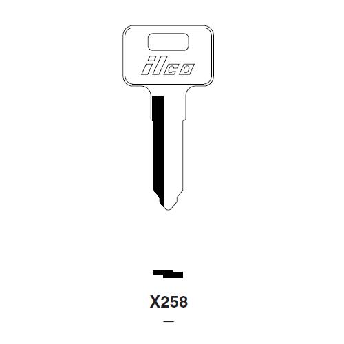 Ilco X258 Key Blank : Kawasaki