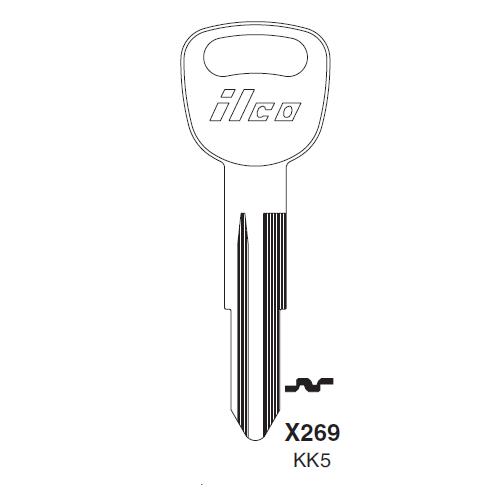Ilco X269, KK5-P (KK5) Key Blank : Kia