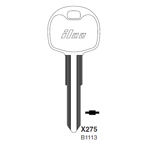 Ilco X275 (B113) Key Blank : Isuzu