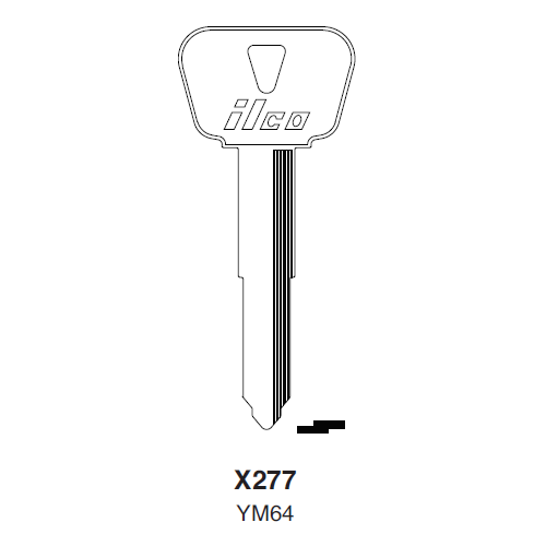 Ilco X277 (YM64) Key Blank : Yamaha