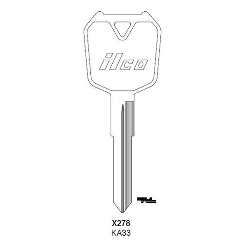Ilco X278, KA33 Key Blank : Kawasaki