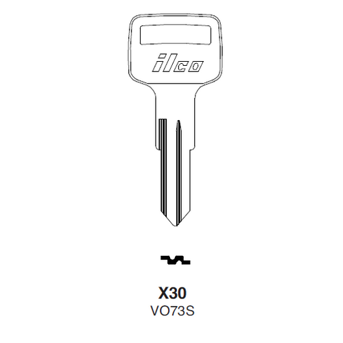 Ilco X30 (VO73S) Key Blank : Volvo