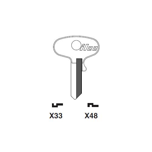 Ilco X48 Key Blank : Yamaha