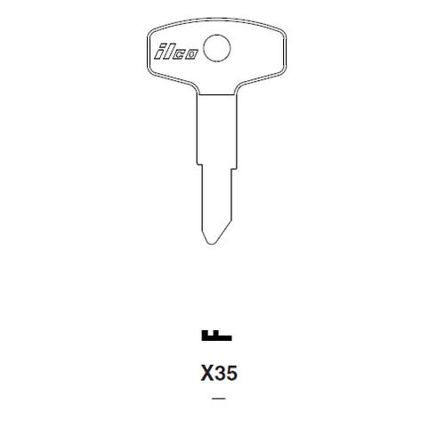 Ilco X35 Key Blank : Kawasaki