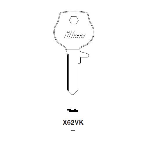 Ilco X62VK (B76L) Key Blank : BMW