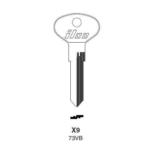 Ilco X9 (73VB) Key Blank : Audi, Porsche, VW