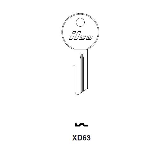 Ilco XD63 Key Blank : DKW, Lloyd