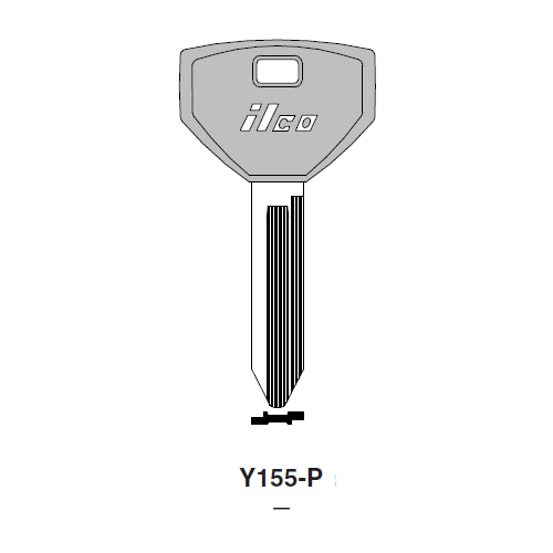 Ilco  Y155-P Chrysler Plastic Head Key Blank; ( Y155,  P1793 )