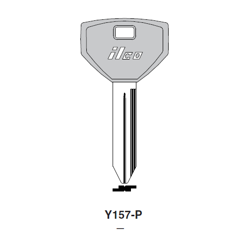 Ilco  Y157-P Chrysler Plastic Head Key Blank; ( Y157,  P1794 )