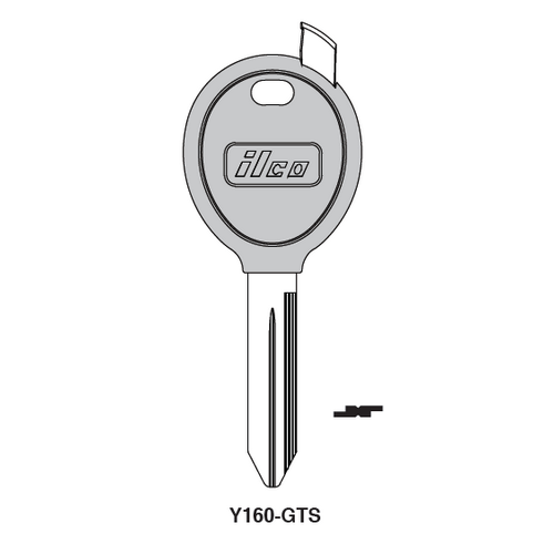 Ilco Y160-GTS Chipless Key Blank; CHRYSLER