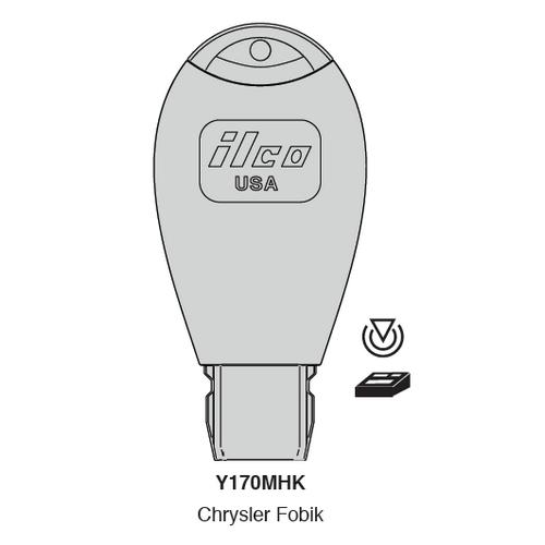 Ilco Y170MHK Electronic Key Blank; Fobik Chrysler