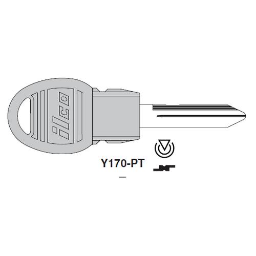 Ilco Y170-PT Transponder Key Blank; Chrysler
