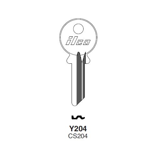 Ilco Y204 Key Blank : Yale