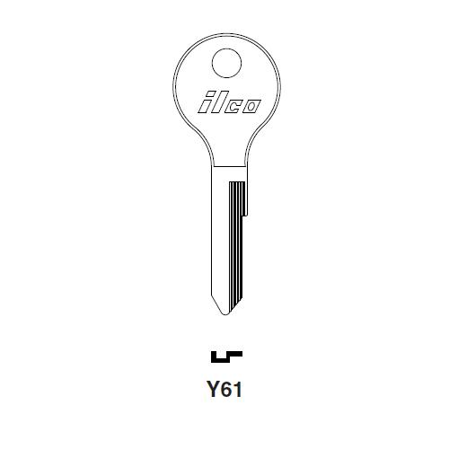 Ilco Y61 Key Blank : Moped