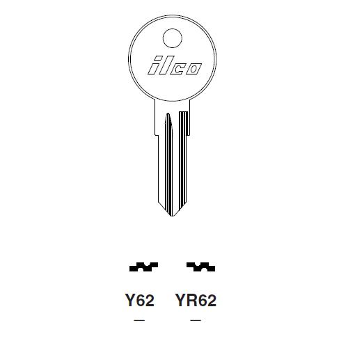 Ilco Y62 Key Blank : Fiat