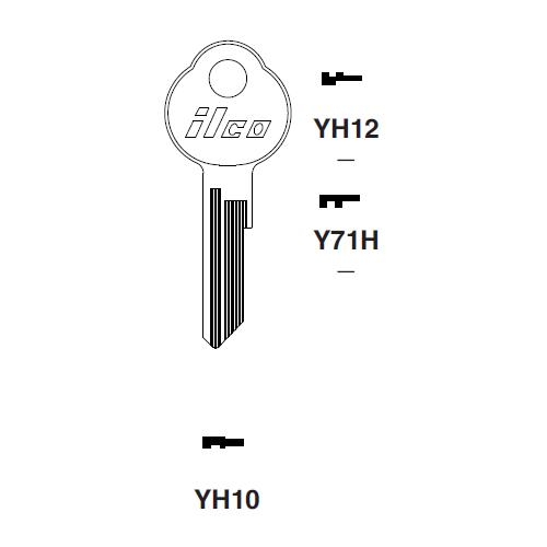 Ilco YH10 Key Blank : Yamaha