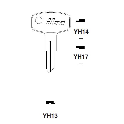 Ilco YH17 Key Blank : Yamaha
