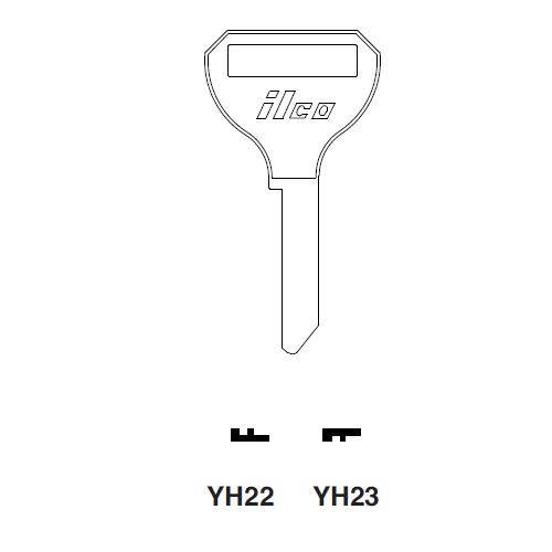 Ilco YH22 Key Blank : Yamaha