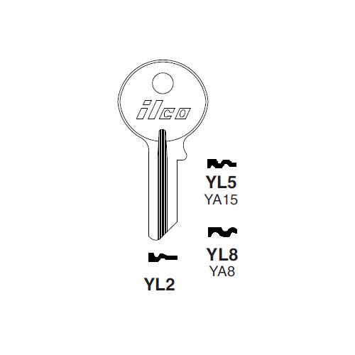Ilco YL2 Key Blank : Yale