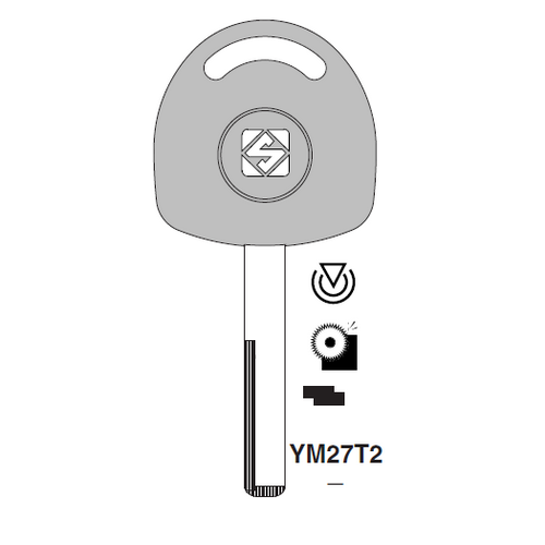 Ilco YM27T2 Transponder Key Blank; Opel
