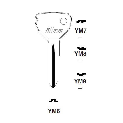 Ilco YM6 Key Blank : Opel
