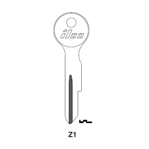Ilco Z1 Key Blank : Moped, Zundapp