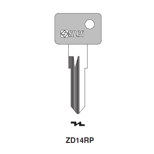 Ilco  ZD14RP Porsche Plastic Head Key Blank