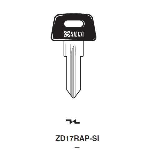 Ilco  ZD17RAP-SI General Motors, Piaggio Plastic Head Key Blank