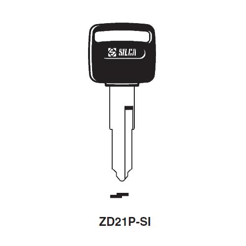 Ilco  ZD21P-SI Cagiva, Laverda Plastic Head Key Blank