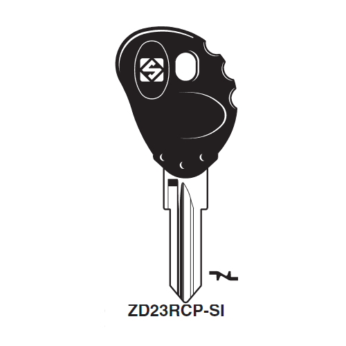 Ilco  ZD23RCP-SI BMW, Malaguti, Italjet, BMW Motorcycle Plastic Head Key Blank
