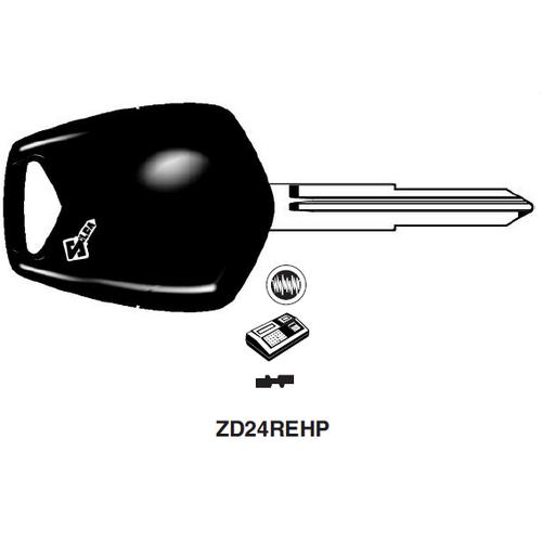 Ilco ZD24REHP Electronic Key Blank; Honda Motorcycles