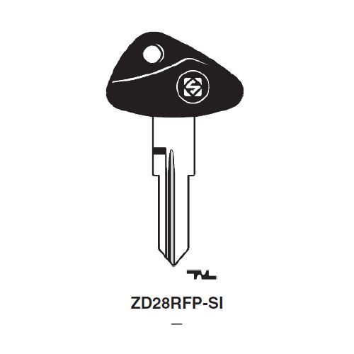Ilco  ZD28RFP-SI BMW Plastic Head Key Blank