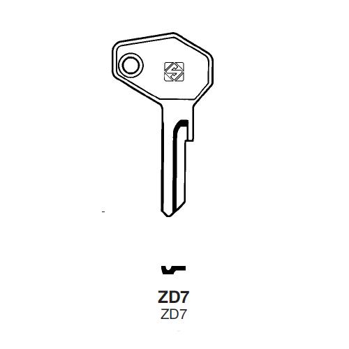 Ilco ZD7 Key Blank : Zadi