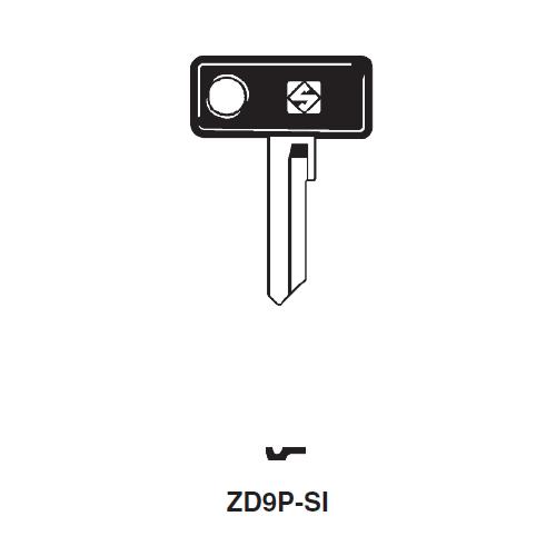 Ilco  ZD9P-SI Cagiva, Moto Guzzi Plastic Head Key Blank