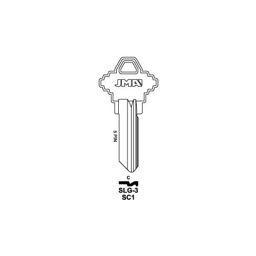 JMA 1145, SC1 Key Blank 250 Box : Schlage - 35-100-C