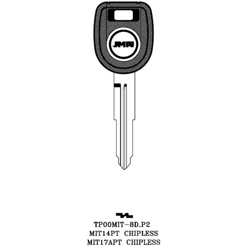 JMA TP00MIT-8D.P2 Chipless Key Blank; MITSUBSHI - MIT14PT, MIT17APT