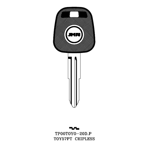 JMA TP00TOYO-20D.P Chipless Key Blank; Toyota - TOY57PT