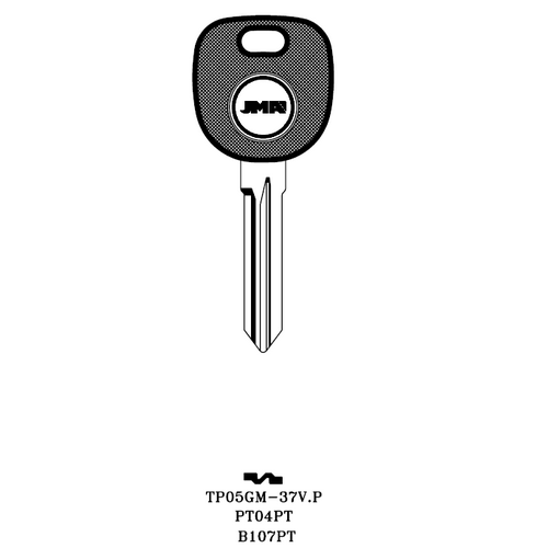 JMA PT04PT Transponder Key Blank; GM, Saab, Saturn