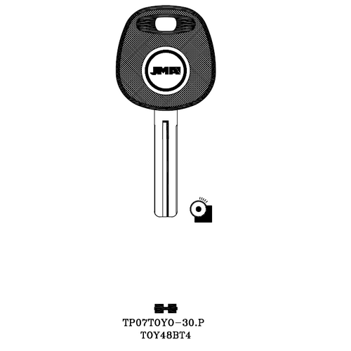 JMA TOY48BT4 Transponder Key Blank; Lloyd