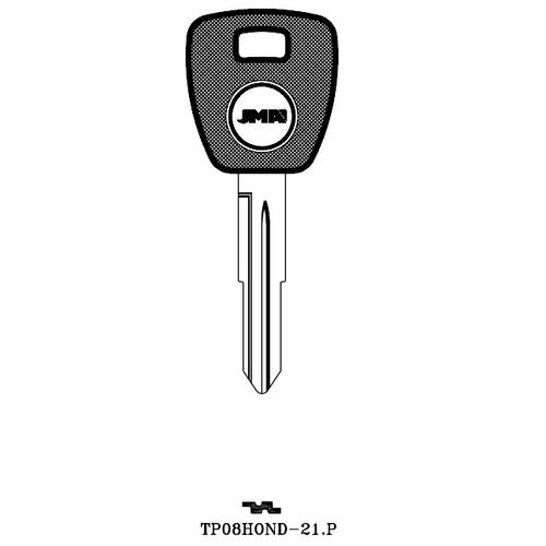 JMA TP08HOND-21.P Transponder Key Blank; Isuzu