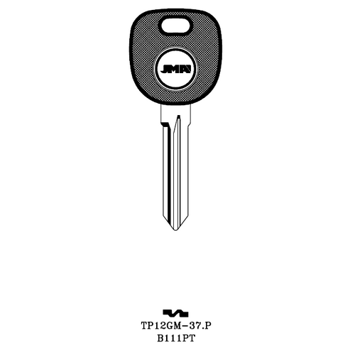 JMA B111PT Transponder Key Blank; GM