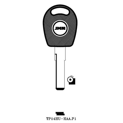JMA TP14HU-HAA.P1 Transponder Key Blank; Audi, Porsche, Volkswagen