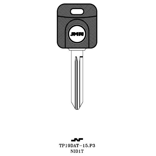JMA NI01T-NP Transponder Key Blank; Nissan