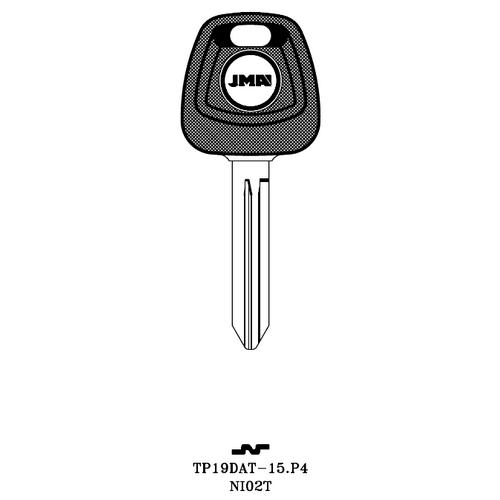 JMA NI02T-NP Transponder Key Blank; Nissan