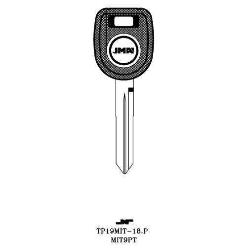 JMA MIT9PT Transponder Key Blank; Mitsubishi
